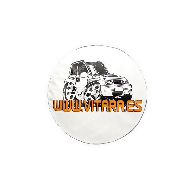 Funda de lona blanca rueda repuesto con logo