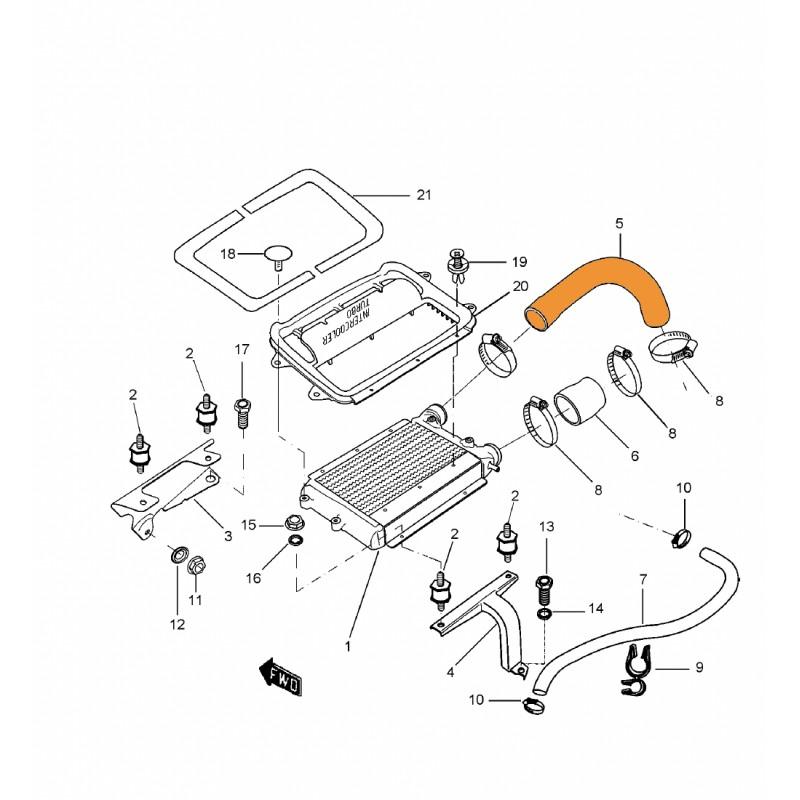Tubo unión Manguito a Radiador HDI